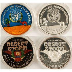 "Operation ""Desert Storm"" Silver Medallions - Set of 2"