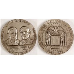Silver Civil War Centennial Commission Medal