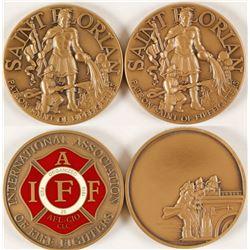 St. Florian Firefighter Coins (2)