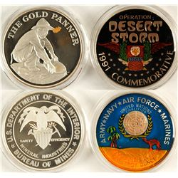 """US Bureau of Mines and """"Desert Storm"""" Silver Medallions"""