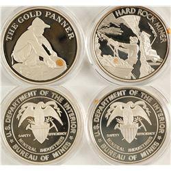 US Bureau of Mines Silver Medallions (2)