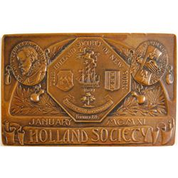 Commemorative Plate, Holland Society
