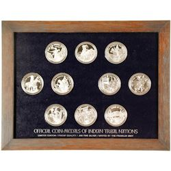 Franklin Mint - Coin-Medals of Indian Tribal Nations - VOLUME 1, Set 1