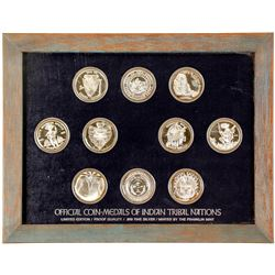 Franklin Mint - Coin-Medals of Indian Tribal Nations - VOLUME 1, Set 2