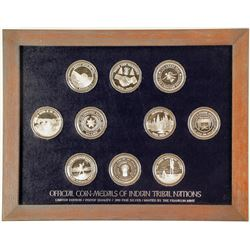 Franklin Mint - Coin-Medals of Indian Tribal Nations - VOLUME 4, Set 1