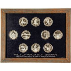 Franklin Mint - Coin-Medals of Indian Tribal Nations - VOLUME 4, Set 2