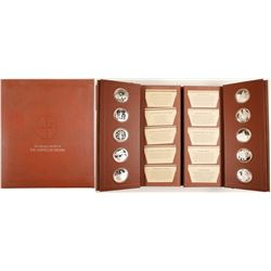 Medallic History of the American Indian - 50-coin Sterling Silver set - The Franklin Mint