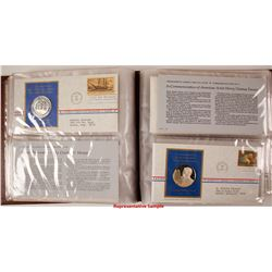 Postmasters of America Medallic First Day Covers - Set of 41 - The Franklin Mint