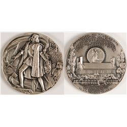 Coin Medallion Commemorative Christopher Columbus