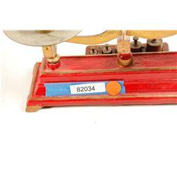 Vintage Cast Iron & Brass Balance Scale by Henry Troemner