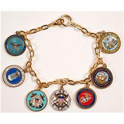 US Military Charm Bracelet