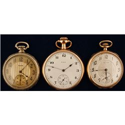 2 Elgin and 1 Waltham Pocket Watches