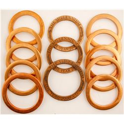 Baker's Dozen of Heavy Brass Rings