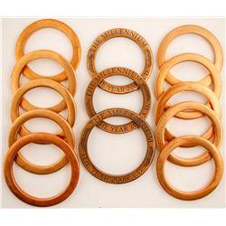 Baker's Dozen of Heavy Brass Rings