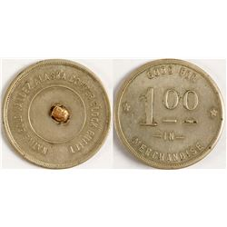 Copper Block Buffet Gold Nugget Token