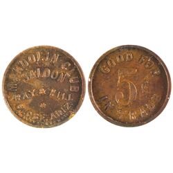 Mandolin Club Saloon Token