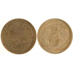 F. G. McCoy Co. Territorial Token
