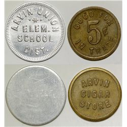 Different Arvin, California Tokens (2)