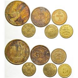Six Bakersfield Tokens