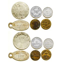 Six tokens from Five Merchants
