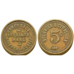 Riverdale Billiard Hall Token