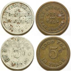 Barber Billiards/Brunswick Pool Hall Tokens