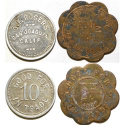 O. F. Rogers / Pool Hall Tokens