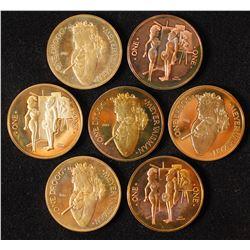 7 Meyer Vaisman Caricature Coins