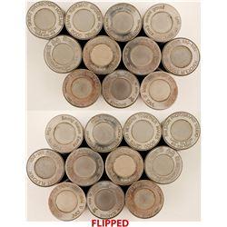 Eleven Miscellaneous Encased Cent Die