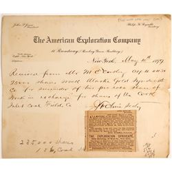 American Exploration Company Billhead