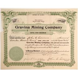 Gravina Mining Company Stock for 17,000 shares.