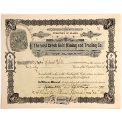 Lost Creek Gold Mining and Trading Company Stock