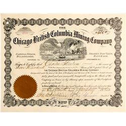 Chicago British Columbia Mining Co. Stock