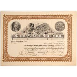 Klondike Alaska Gold Mining Company Stock