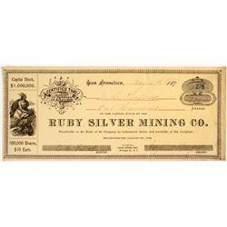 Ruby Silver Mining Company Stock