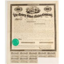 Mowry Solver Mining Company Bond signed by Mowry