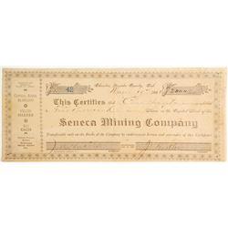 Seneca Mining Company Stock, Badger Hill Mining District, Nevada County