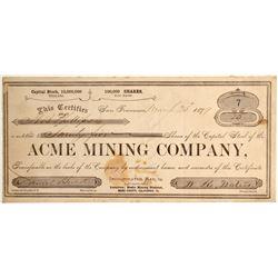 Acme Mining Company Stock