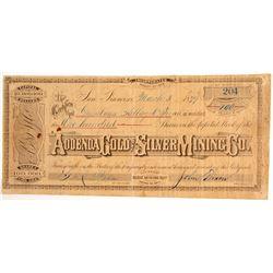 Addenda Gold & Silver Mining Company Stock