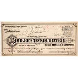 Booker Consolidated Gold Mining Company Stock