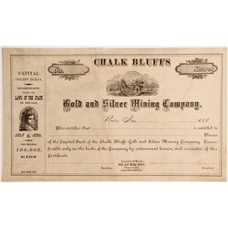 Chalk Bluffs Gold & Silver Mining Company, Chalk Bluff Mining District, Placer County