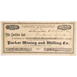Parker Mining & Milling Company Stock, Gold Lake, Sierra County