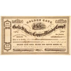 Golden Gate Gold, Silver & Copper Mining Company, Gopher District, Calaveras County