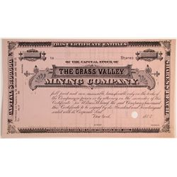 Grass Valley Mining Company Stock