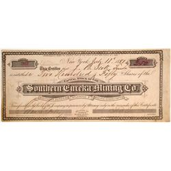 Southern Eureka Mining Company Stock, Greenville, Plumas County