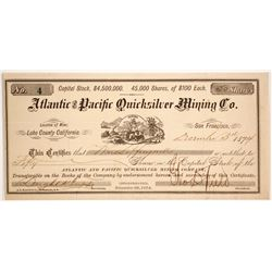 Atlantic & Pacific Quicksilver Mining Company Stock