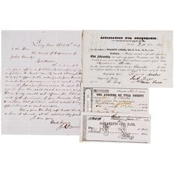 Four Scarce California Gold Rush Documents