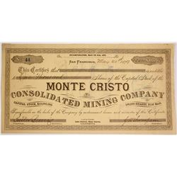 Monte Cristo Consolidated Mining Company Stock