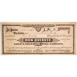 Don Quixote Gold & Silver Mining Company Stock