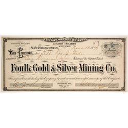 Foulk Gold & Silver Mining Company Stock